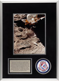 Explorers:Space Exploration, Dave Scott Signed and Annotated Apollo 15 Lunar Surface Experiment Color Photo. ...