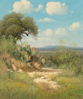 Fine Art - Painting, American, G. (Gerald Harvey Jones) Harvey (American, 1933-2017). Spring inBoerne County, 1970. Oil on canvas. 24 x 20 inches (61....