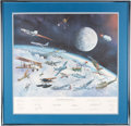 """Explorers:Space Exploration, William J. Reynolds 1982 Limited Edition, #675/1100, """"Great Moments In Aviation History"""" (Gathering of Eagles) Print, the Firs..."""