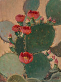 Texas:Early Texas Art - Impressionists, Rolla Sims Taylor (American, 1872-1970). Prickly Pear. Oilon board. 16 x 12 inches (40.6 x 30.5 cm). Signed lower right...