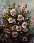 Fine Art - Painting, American, José Vives-Atsara (Spanish/American, 1919-2004). Still Life withRoses. Oil on canvasboard. 20 x 16 inches (50.8 x 40.6 ...