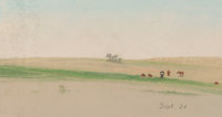 Frank Reaugh (American, 1860-1945) Sketch, September 21 Pastel on paper 4-7/8 x 8-7/8 inches (12