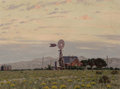 Fine Art - Painting, American, Fred Darge (American, 1900-1978). Country Homestead. Oil oncanvas laid on panel. 11-1/2 x 15-1/2 inches (29.2 x 39.4 cm...
