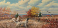 Paintings:Early Texas Art - Impressionists, William Robert Thrasher (American, 1908-1997). The Hunt. Oil on canvas. 24 x 48 inches (61.0 x 121.9 cm). Signed lower l...
