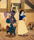 """Animation Art:Seriograph, """"Dancing Partners"""" Snow White with Sneezy and Dopey Limited Edition Sericel (Walt Disney, 1999). ..."""