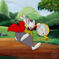 "Animation Art:Seriograph, ""I'm Late"" Alice in Wonderland White Rabbit Limited Edition Sericel (Walt Disney, 1999)...."