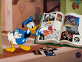 "Animation Art:Seriograph, ""Donald's Memory Book"" Donald Duck Limited Edition Sericel with Remarque (Walt Disney, 1999)...."