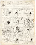 Original Comic Art:Comic Strip Art, Harry Tuthill The Bungle Family Sunday Comic Strip Original Art dated 6-12-32 (McNaught Syndicate, 1932)....