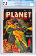 Golden Age (1938-1955):Science Fiction, Planet Comics #70 (Fiction House, 1953) CGC VF- 7.5 Off-white pages....