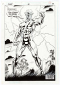 Original Comic Art:Splash Pages, Paul Ryan and John Nyberg Flash V2#131 Splash Page 22Original Art (DC, 1997)....