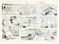 Original Comic Art:Comic Strip Art, Bob Lubbers Robin Malone Sunday Comic Strip Original Artdated 2-18-68 (NEA, 1968). ...