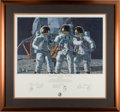 """Explorers:Space Exploration, Alan Bean Signed """"Conrad, Gordon, and Bean: The Fantasy"""" Limited Edition, #537/1000, Color Print, also Signed by Charles Conra..."""