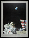 """Explorers:Space Exploration, Alan Bean Signed (Twice) """"Too Beautiful To Have Happened By Accident"""" Limited Edition, #301/600, Color Print with Added Commen..."""