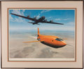 "Explorers:Space Exploration, Chuck Yeager Signed ""Yeager's Quest"" (X-1) Limited Edition, #720/950, Color Print by Stan Stokes with Certificate of Authentic..."