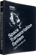 "Explorers:Space Exploration, Neil Armstrong's Personal Copy: NASA ""Space Transportation System User Handbook"" Dated June 1977 in Custom Binder, Directl..."
