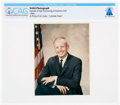 Explorers:Space Exploration, Neil Armstrong 1964 NASA Business Suit Portrait with U.S. Flag: A Color Proof Directly From The Armstrong Family Collection™, ...