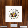 Explorers:Space Exploration, Apollo 11: 1969 State of Hawaii Recovery Plaque, Directly From The Armstrong Family Collection™, CAG Certified. ...