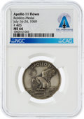 Explorers:Space Exploration, Apollo 11 Flown MS66 NGC Sterling Silver Robbins Medallion, Serial Number 426, Directly From The Armstrong Family Collection™,...