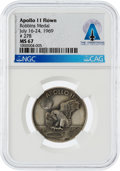 Explorers:Space Exploration, Apollo 11 Flown MS67 NGC Sterling Silver Robbins Medallion, Serial Number 278, Directly From The Armstrong Family Collection™,...