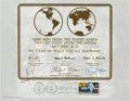 "Explorers:Space Exploration, Apollo 11: Crew-Signed ""First Man On The Moon"" First Day Cancellation on a Lunar Plaque Reproduction Directly from the Collect..."
