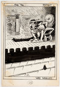 Original Comic Art:Illustrations, George Herriman archy does his part Interior Illustration Original Art (Doubleday, 1935)....