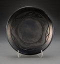 American Indian Art:Pottery, A San Ildefonso Blackware Plate. Tony Da. c. 1995...