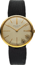 Timepieces:Wristwatch, Patek Philippe, Ref. 2590 Calatrava, 18k Yellow Gold, Circa 1965. ...