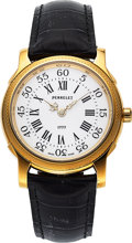 Timepieces:Wristwatch, Perrelet, Fine Limited Edition 18K Yellow Gold Model 1777, Automatic, No. 64/100, Circa 1990s. ...