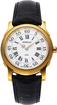 Perrelet, Fine Limited Edition 18K Yellow Gold Model 1777, Automatic, No. 64/100, Circa 1990s