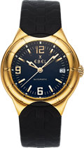 Timepieces:Wristwatch, Ebel Type E Gent's Gold Automatic Wristwatch. ...