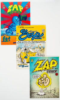Zap Comix Group of 6 (Apex Novelties, 1969-75) Condition: Average FN+.... (Total: 6 Items)