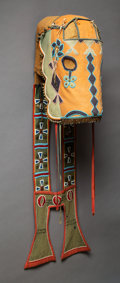 American Indian Art:Beadwork and Quillwork, A Plateau Beaded Wool Horse Mask. c. 1900...