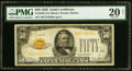 Small Size:Gold Certificates, Fr. 2404 $50 1928 Gold Certificate. PMG Very Fine 20 Net.. ...