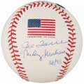 Autographs:Baseballs, 2001 Torre & Giuliani Dual-Signed Limited Edition World SeriesBaseball...