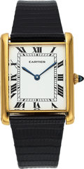"Timepieces:Wristwatch, Cartier, Very Rare Tank ""Jumbo"" Automatic, 18k Yellow Gold, Circa1970's. ..."