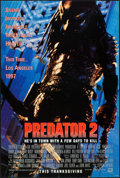 "Movie Posters:Science Fiction, Predator 2 (20th Century Fox, 1990). Rolled, Very Fine/Near Mint.One Sheet (27"" X 40"") DS Advance. Science Fiction.. ..."