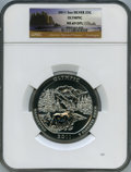 Modern Bullion Coins, 2011 25C Olympic National Park Five Ounce Silver, First Strike MS69 Deep Mirror Prooflike NGC. PCGS Popu...