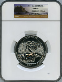 2011 25C Olympic National Park Five Ounce Silver, First Strike MS69 Deep Mirror Prooflike NGC. NGC Census: (0/0). PCGS P...