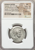 Ancients:Roman Imperial, Ancients: Hadrian (AD 117-138). AR cistophorus (27mm, 10.53 gm,6h). NGC XF 4/5 - 4/5, overstruck....