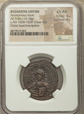 Ancients:Byzantine, Ancients: Anonymous. Class A3. Time of Basil II-Constantine VIII(ca. AD 1020-1028). AE follis (28mm, 10.18 gm, 6h). NGC Choice AU4/5 -...