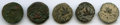 Ancients:Ancient Lots  , Ancients: ANCIENT LOTS. Judaea. The Jewish War (AD 66-70). Lot offive (5) AE prutahs. Fine-VF.... (Total: 5 coins)
