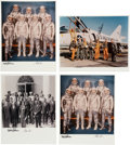 Explorers:Space Exploration, Mercury Seven Astronauts: Photos Signed by Wally Schirra and Gordon Cooper (Four), Directly from the Family Collection of Astr...