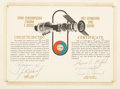 """Explorers:Space Exploration, Apollo-Soyuz Test Project: Flown Document Signed in Space by Both Crews, Known as the """"Space Magna Carta."""" ..."""