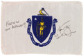 Explorers:Space Exploration, Apollo 9 Flown Massachusetts State Flag Directly from the Personal Collection of Mission Lunar Module Pilot Rusty Schweickart,...