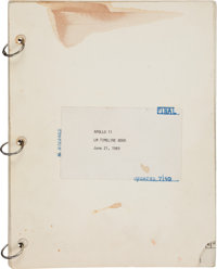 "Apollo 11 Training-Used: NASA ""Apollo 11 LM Timeline"" June 21, 1969-dated Book, Updated as of July 10, Directl..."