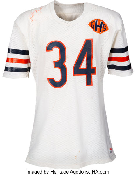 los angeles 5a7f4 b1555 1983 Walter Payton Game Worn & Signed Chicago Bears | Lot ...