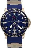 Timepieces:Wristwatch, Ulysse Nardin, Limited Edition Maxi Marine Diver, 18K White Gold, Automatic, No. 263/500, Ref. 260-32-3A, with Boxes, Circa 20...