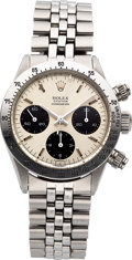 """Timepieces:Wristwatch, Rolex, Ref. 6265/6264 Cosmograph, """"Panda"""" Dial, Stainless Steel,Circa 1971. ..."""