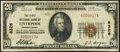 National Bank Notes:Pennsylvania, Liverpool, PA - $20 1929 Ty. 1 The First NB Ch. # 8326 Fine-Very Fine.. ...