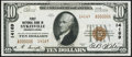 National Bank Notes:Pennsylvania, Sykesville, PA - $10 1929 Ty. 2 First NB Ch. # 14169 Extremely Fine.. ...